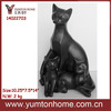 Home decoration resin black cat family