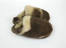 Authentic Lambskin/Sheepskin leather slippers for women ladies