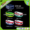 Silicone Wristbands, Mixed Colors Rubber Bracelets For Adults
