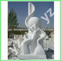De mármol blanco jardín de esculturas abstractas absn- d054