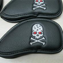 Custom skull leather Iron Golf Head Cover Golf Cover