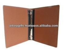 ADARB - 0022 1 inch round ring binder / office 3 d ring binders / 3 ring binder leather file folder