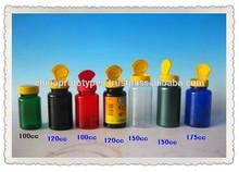 Plastic Medicine Bottle with Flip Top Cap