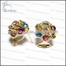 24k gold earrings beautiful rose earrings for cute girls