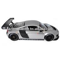 Original Licensed Kids Ride Remote Control Cars R/C 1:14 Audi R8 With Steering Wheel - Silver & Black