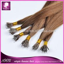 brazilian human nano ring hair extension micro loop ring hair