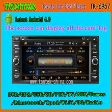 New selling 1 din 7 inch gps radio car dvd player for Toyota Toyota Avanza