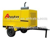 Diesel trolley mounted screw air compressor energy saving