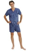 2014 Plus Size New Design Men's Satin Pajama Set with Shorts