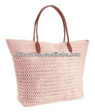 Sweet Paper Straw Crochet Beach Bag