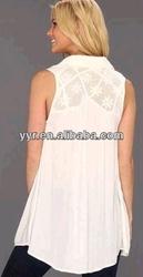 2014 NEW YYH Sleeveless Lace Tunic Top Shirt Medium Ivory Lace Boho Nordstrom