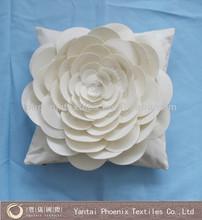 sofa decorative velvet 3d floral cushion