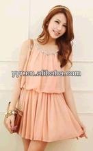 2014 NEW Sweet Girl Rhinestone Self-tie Cut-out Tunic Mini Dress Sundress Top Casual