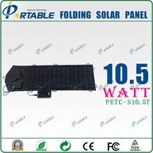 High Efficiency Foldable PV modules, 3 folding solar panel bag