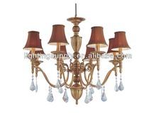 Traditional K9 gold brass crystal chandelier lighting