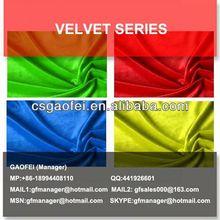 2014 spun velvet fabric/ garment velvet fabric chang shu manufacturers