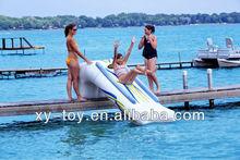 Sports inflatable Dock Slide,floating dock slide,inflatable toboggan slide