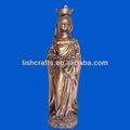 arte religioso y resina figura de bronce de la artesanía del polyresin