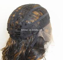 AAAAA wholesale Brazilian human virgin hair lace front and full lace deep wave wig