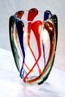 colorful glass vase, glass vase, vase decoration