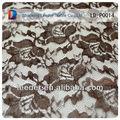 Crochet dentelle tissu pour vente polyester tissu dentelle pour robe