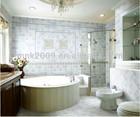 light blue free style bathroom wall and floor tiles