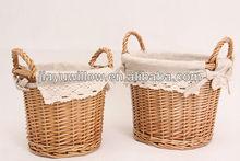 2014 hotsale practical round fabric storage basket for family storage