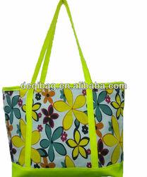 2014 summer colorful nice flower printing bag beach bags Shoulder casual women's handbag shopping