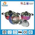 2014 novo produto chinês colorido açoinoxidável estoque de panela, parini utensíliosdecozinha