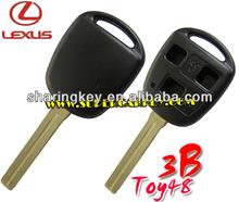 Lexus 3 Button Remote Key Case Without Logo TOY48 Blade