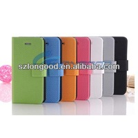 Horizontal Flip Button Leather Case with Credit Card Slots & Holder for iphone 5 5G
