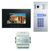 """7"""" wired video door phone with nameplate and code access"""
