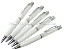 Pearl white crystal ballpoint pen for promotion or chinese pens P10168
