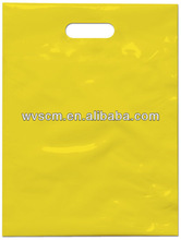 Hot Selling Shipping Bag Promotional Bag Pure Yellow Die Cut Bag With Your Logo