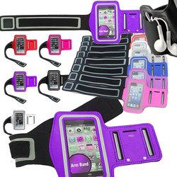 Neoprene Waterproof Factory Bag Sleeve Sports Sport MP3 Armband for iPhone 4 4G 4S Purple