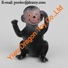 black 3d cartoon plastic monkey figurine