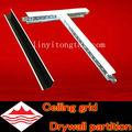 Perfiles de aluminio para placas de yeso / plana t bar para techo / techo suspendido t bar