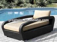 2014 New Design Lounger combines Outdoor Wicker Patio Furniture