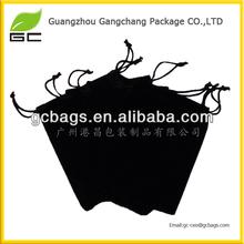 Guangzhou factory custom cheap black velvet wine bag