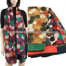 SCARF winter Big DOT lovely shawl hijap stole Korean print scarf A0552