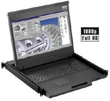 Rose Rack-Mounted 17 Inch KVM Station with Ultra High Definition LCD Monitor