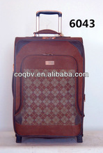 Two wheels expandable eva trolley luggage