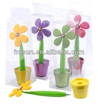Beautiful Creative Soft PVC Mulicolor Imprint Flower Pot Pen Holder
