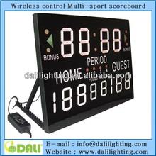 basketball scoring board remote control indoor scoreboard