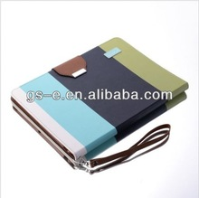 stripe leather wallet case for ipad air