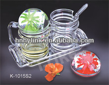 New acrylic oilve oil vinegar cruet