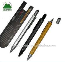 Multi Tool Ballpoint Pen with ball pen,touch pen,leveler,screwdriver,ruler