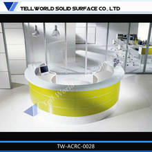 2014 TW New design solid surface office reception table models