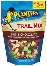 Planters Trail Mix, Nut & Chocolate - 6 oz pouch