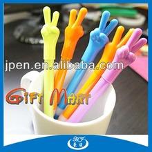 Novelty Design Bendable Finger Bal Pen Soft Pen